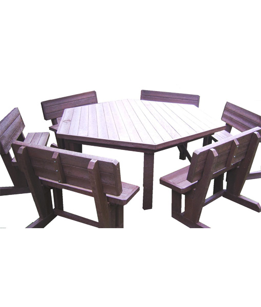 12 seater hex patio set mctimber structres for Outdoor furniture 12 seater
